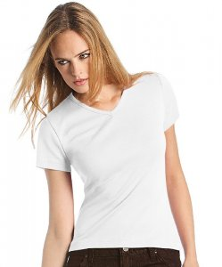 Ladies' Rib T-Shirt V-Neck