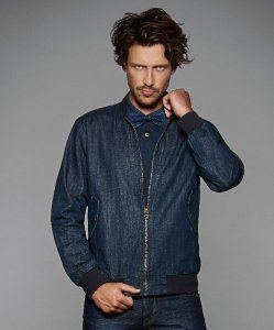 Men's Denim Bomber Jacket