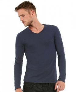 Men's Medium Fit V-Neck T-Shirt longsleeve