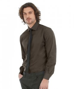 Men's Poplin Stretch Shirt longsleeve