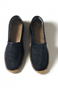Espadrille in denim fabric