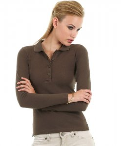 Ladies' Fine Piqué Polo longsleeve