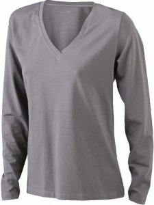 Ladies' Stretch V-Neck T-Shirt longsleeve