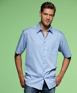 Men's Chambray Business Shirt shortsleeve