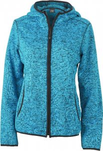 Ladies' Knitted Hooded Fleece Jacket