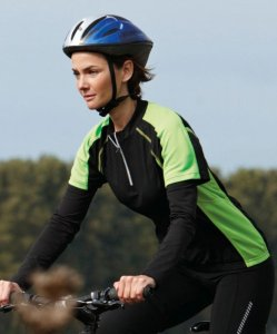 Ladies' Bike 1/4 Zip Shirt