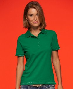 Ladies' Elastic Jersey Polo