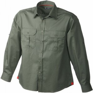 Twill Travel Shirt with Roll-up-Sleeve