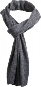 Light knitted scarf in urban style