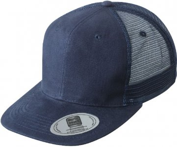 6 Panel Cotton Flat Peak Mesh Cap