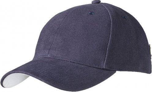 Brushed 6 Panel Badge Cap