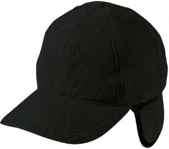 6 Panel Fleece Cap with Ear Flaps