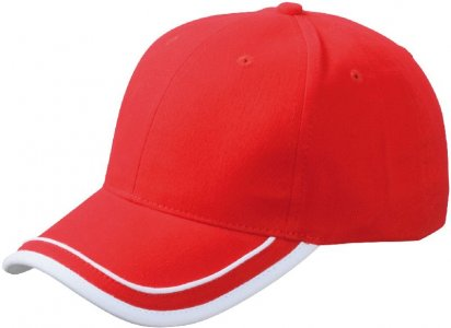 Brushed 6 Panel Piping Cap