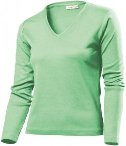 Ladies' Heavy V-Neck T-Shirt longsleeve