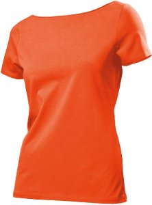 Ladies' Stretch T-Shirt with wide collar