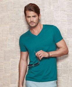"Organic Men's V-Neck T-Shirt ""James"""