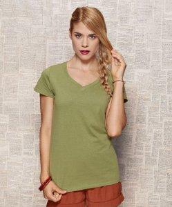 "Organic Ladies' V-Neck T-Shirt ""Janet"""
