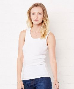 Ladies' 1x1 Baby Rib Tank Top