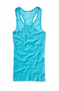 Ladies' Sheer Rib Racerback Tank Top