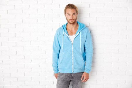 Unisex Poly-Cotton Hooded Sweatjacket