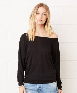 Flowy off the shoulder T-Shirt longsleeve