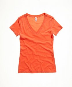 Ladies' Jersey Deep V-Neck T-Shirt
