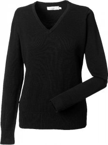 Ladies' Knitted V-Neck Pullover