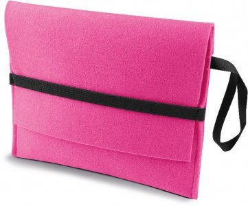 Felt tablet pouch with flap
