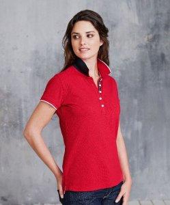 Ladies' Contrast Piqué Polo