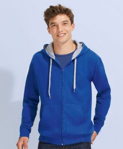 Men's Contrasted Hooded Sweat Jacket