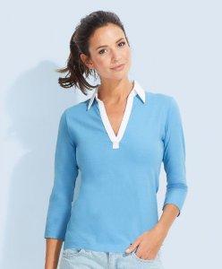 Ladies' Jersey Polo longsleeve