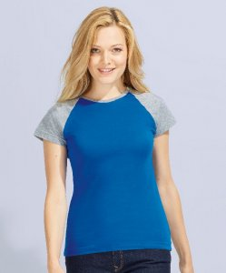 Ladies' Raglan T-Shirt bicolor
