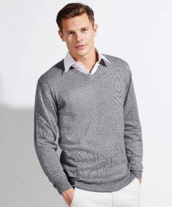 Men's Knitted V-Neck Pullover
