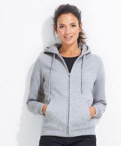 Ladies' Sweat Jacket with Lined Hood
