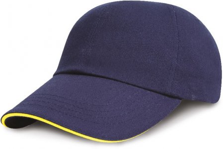 Low Profile Heavy Brushed Cap with Sandwich Peak