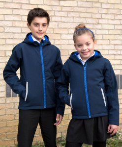 Kids' 3-Layer Hooded Softshell Jacket
