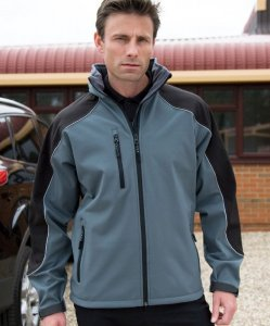 3-Layer-Softshell-Jacket with hood