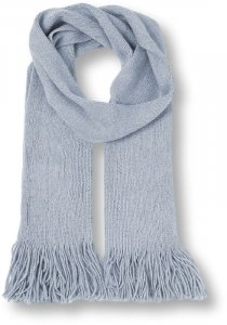 Knitted Scarf with Fringes