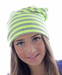 Long Beanie with Stripes